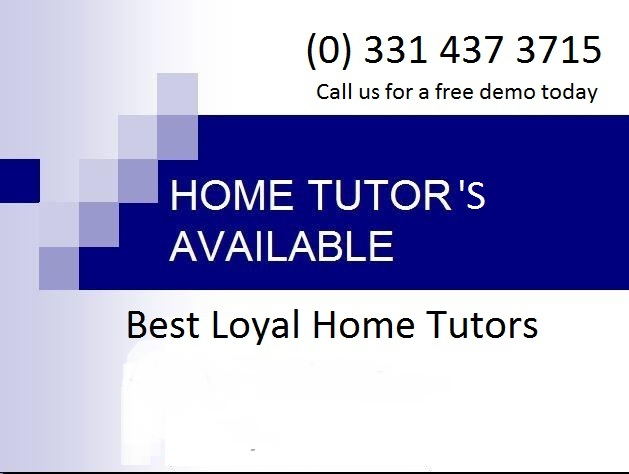 Home tutors in Lahore